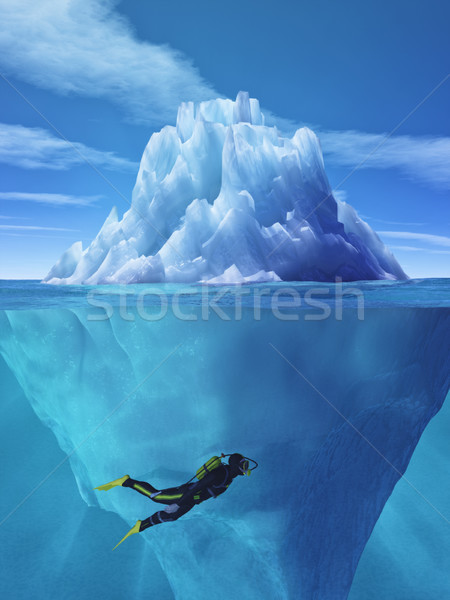 Diver swimming Stock photo © orla