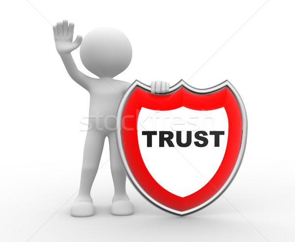 Shield. Trust  Stock photo © orla