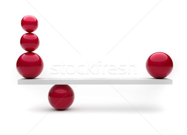 Spheres in balance  Stock photo © orla