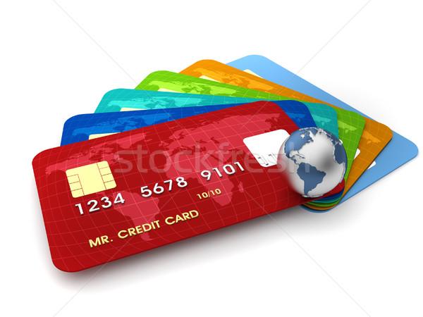 Credit cards Stock photo © orla