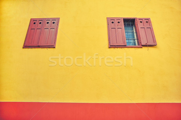 Windows with wooden shutters Stock photo © orla