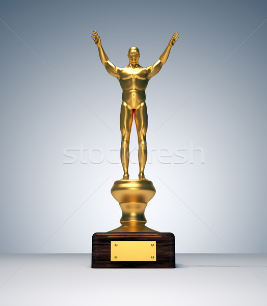 Golden human body as trophy  Stock photo © orla