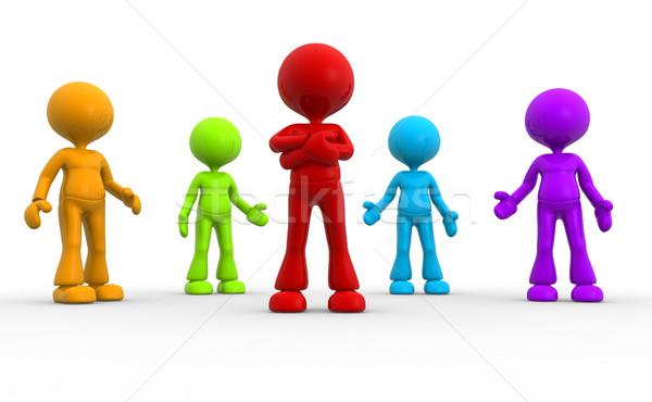 Farklı erkekler 3d insanlar kişi grup dünya Stok fotoğraf © orla