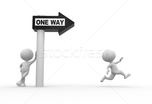 One way Stock photo © orla