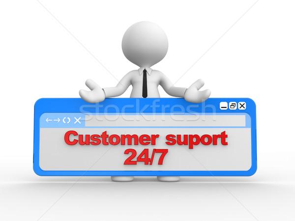 Customer suport 24/7 Stock photo © orla