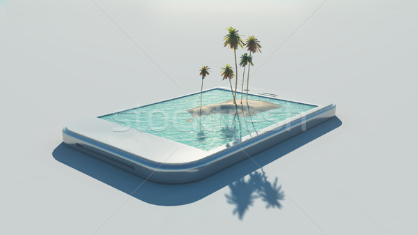3d tropical image Stock photo © orla