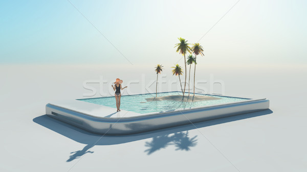 Stock photo: Woman in swimsuit