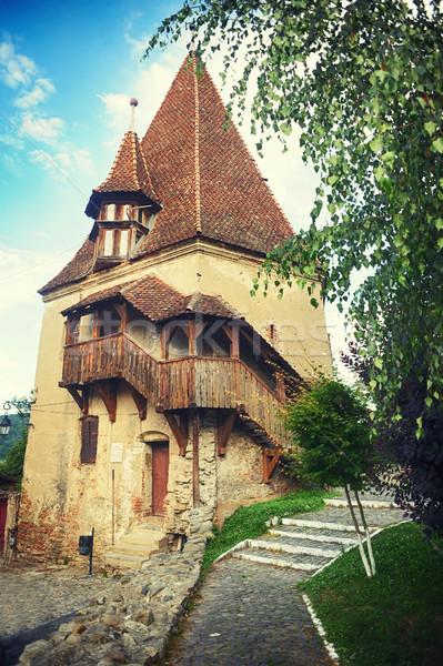 塔 1 建物 中世 市 背景 ストックフォト © orla