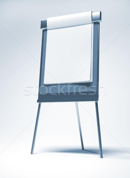 Flipchart 3d render örnek kâğıt toplantı arka plan Stok fotoğraf © orla