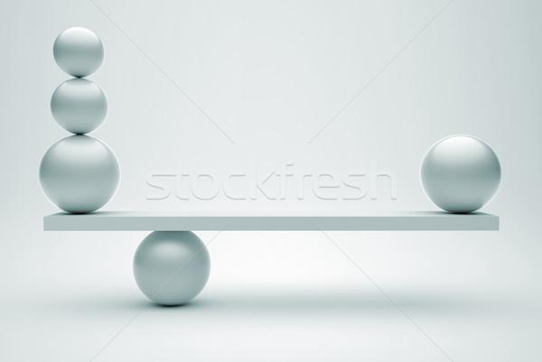 Spheres in balance Stock photo © orla