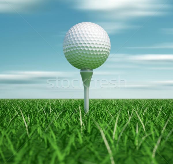Golf ball on tee Stock photo © orla