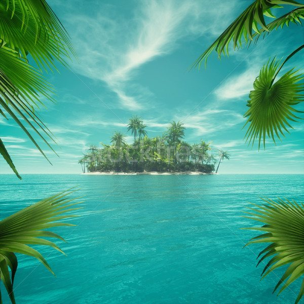 Stock photo: Deserted tropical paradise