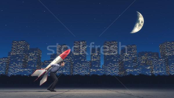 Launching the man Stock photo © orla