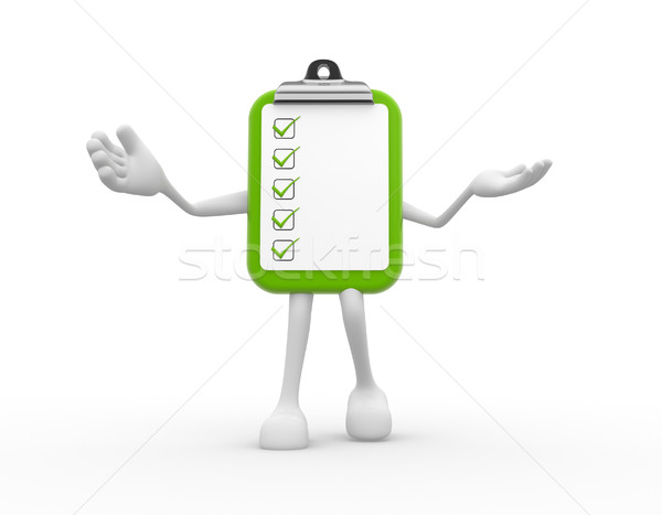3d clipboard and checlist Stock photo © orla