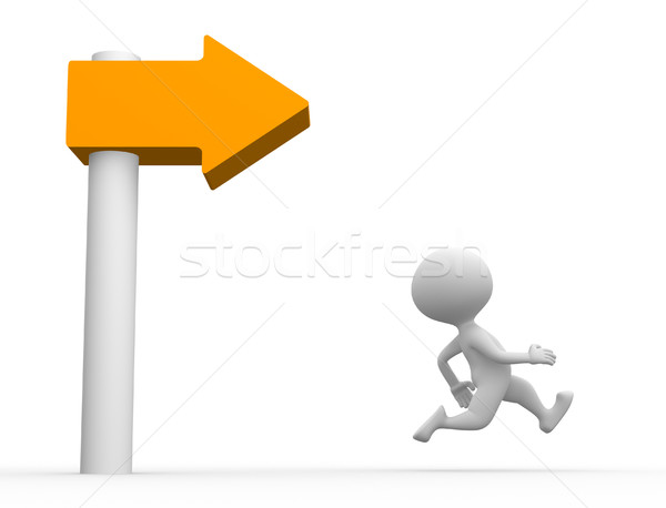 Stock photo: Directional sign