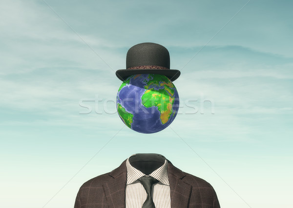 Business man with Earth globe Stock photo © orla