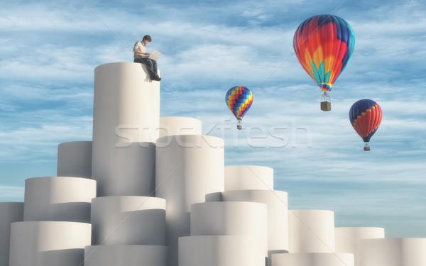 Hot air balloons Stock photo © orla