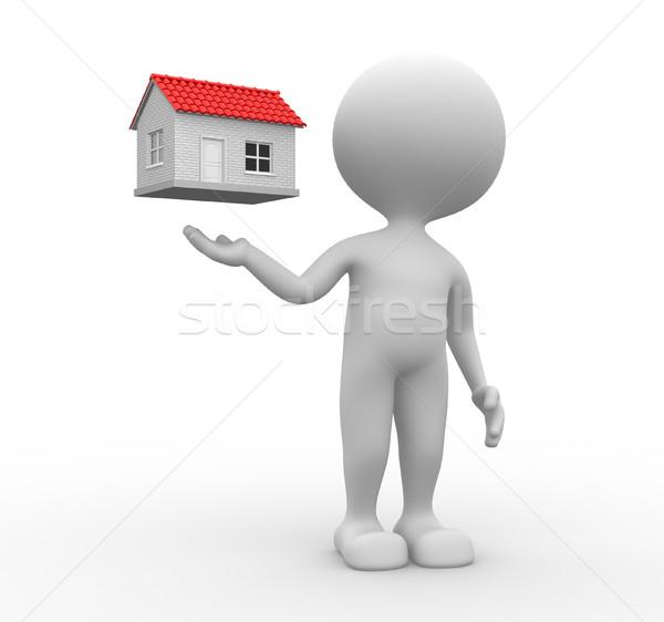 Foto stock: Casa · 3d · pessoas · homem · pessoa · negócio · internet