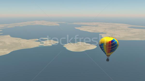 Colorful hot air balloon  Stock photo © orla