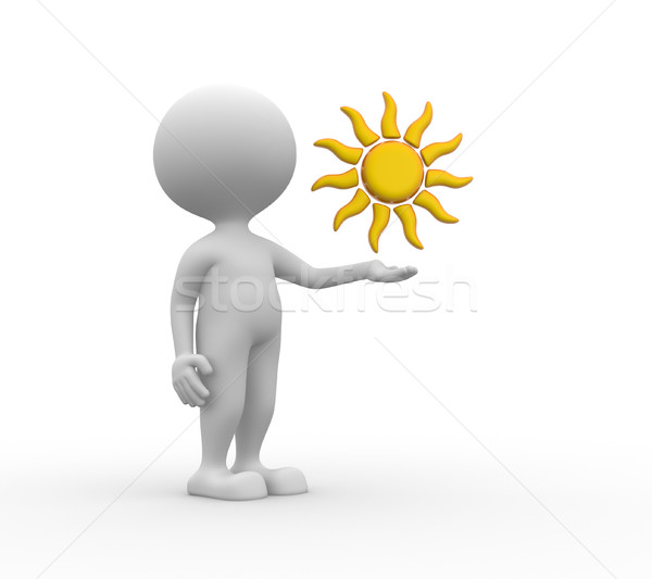 солнце 3d люди человека человек бизнеса дизайна Сток-фото © orla