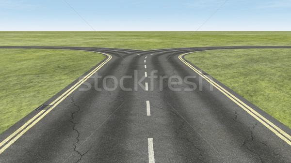 Percorso rendering 3d illustrazione business verde autostrada Foto d'archivio © orla