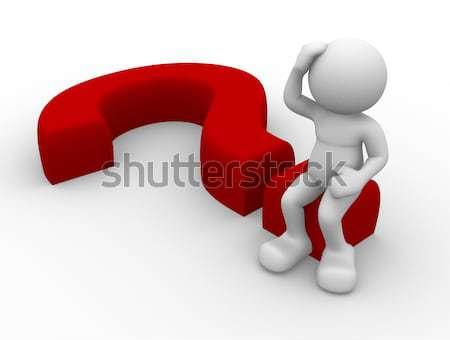 Pergunta pessoa 3d sessão ponto de interrogação projeto Foto stock © orla