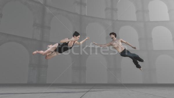 Fiatal előad testmozgás levegő 3d render illusztráció Stock fotó © orla