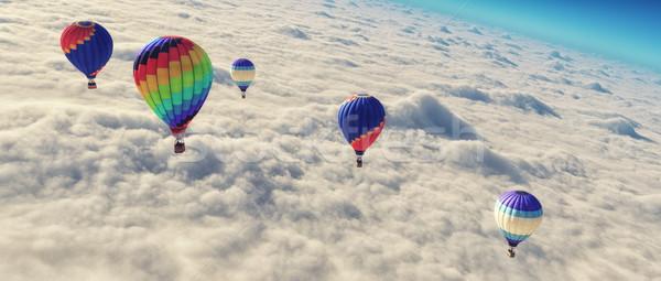 Hot air balloon o Stock photo © orla