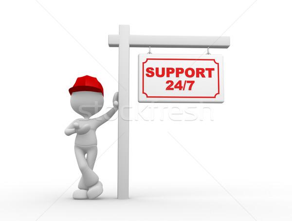 поддержки 3d люди мужчин человек плакат текста Сток-фото © orla