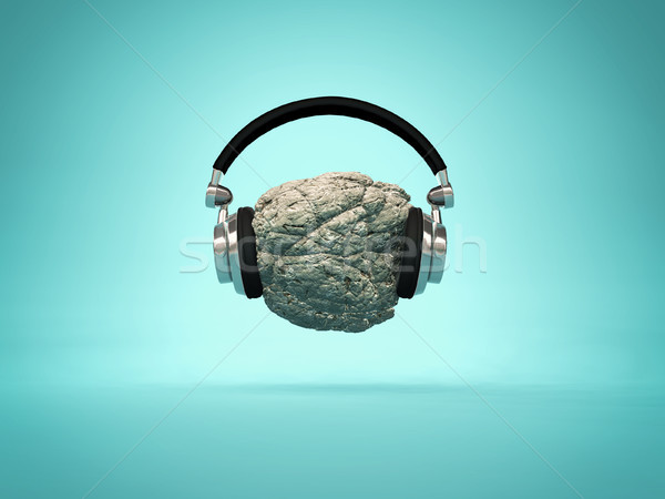 Listening rock music concept  Stock photo © orla