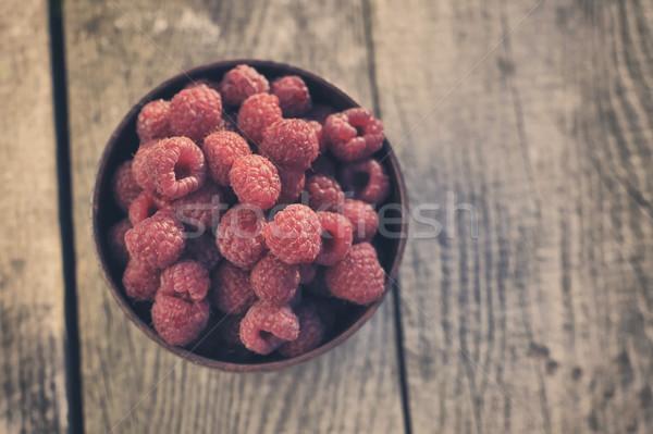 Raspberries Stock photo © orla