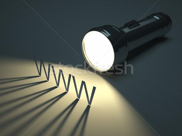 Www spot ışık el feneri aydınlatma metin Stok fotoğraf © orla
