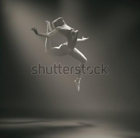 Fiatal gyönyörű ballerina 3d render illusztráció nő Stock fotó © orla