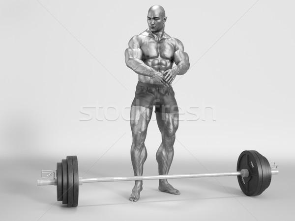 Bodybuilder sporty  Stock photo © orla