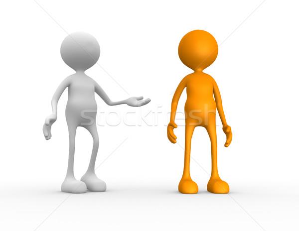 Recomendação 3d pessoas homem pessoa empresário negócio Foto stock © orla