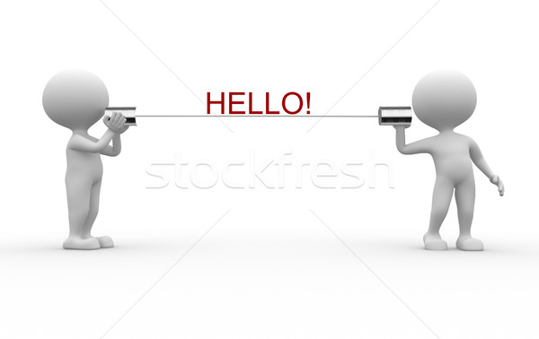 Hello! Stock photo © orla