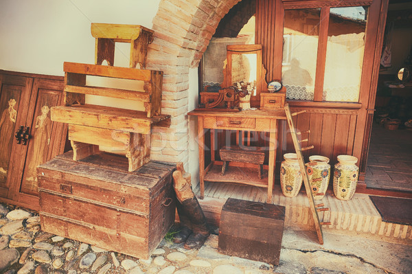 Souvenirs made of wood and ceramics  Stock photo © orla