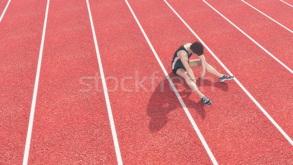 Atleta pista competencia 3d ilustración Foto stock © orla