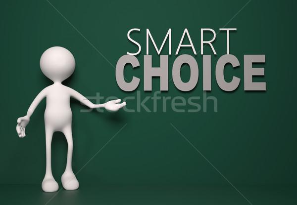 Inteligente escolha 3d pessoas homem pessoa papel Foto stock © orla