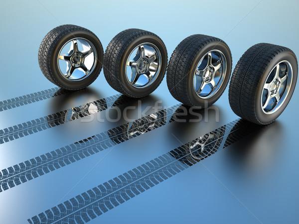 Foto stock: Todo · unidad · rueda · 3D · prestados · ilustración