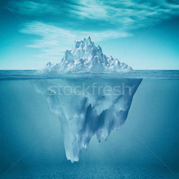 Underwater view of iceberg  Stock photo © orla