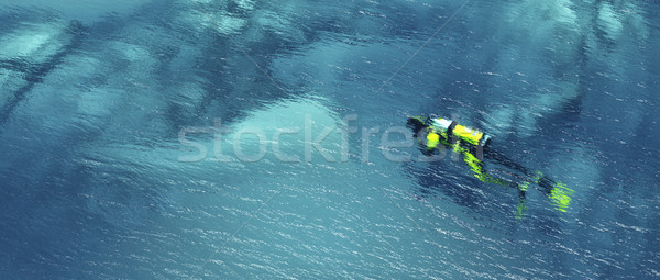 Man with diving suit Stock photo © orla