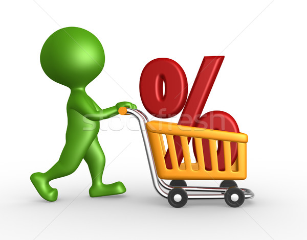 Shopping car and percent sign Stock photo © orla
