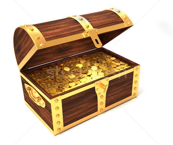 Wooden treasure chest Stock photo © orla