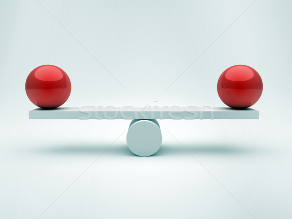 Two spheres in equilibrium  Stock photo © orla