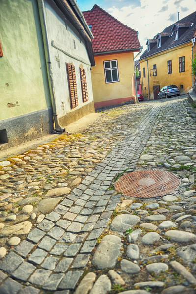 Medieval street view in Fortress Stock photo © orla