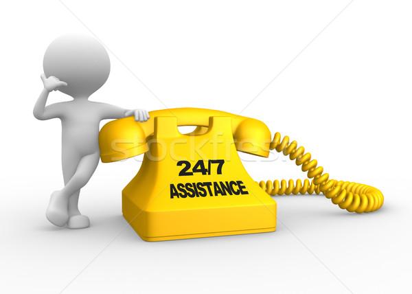 Assistance 24/7 Stock photo © orla