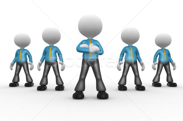 Zakenlieden 3d mensen mannen persoon samen leiderschap Stockfoto © orla