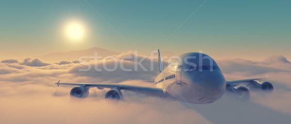 Uçak görmek uçak uçan yüksek Stok fotoğraf © orla
