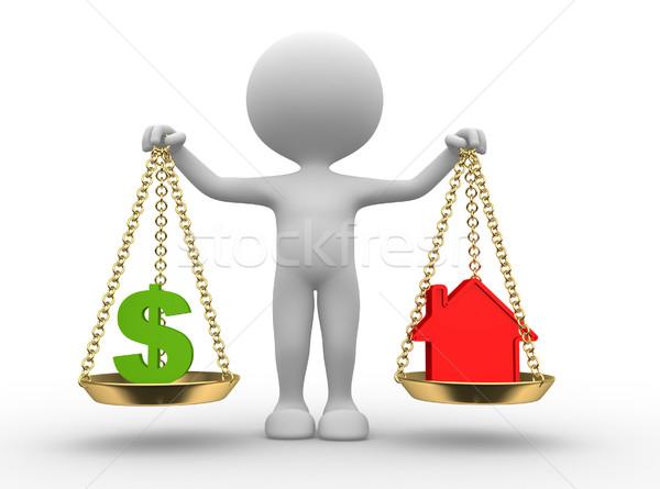 Dollar sign or house Stock photo © orla